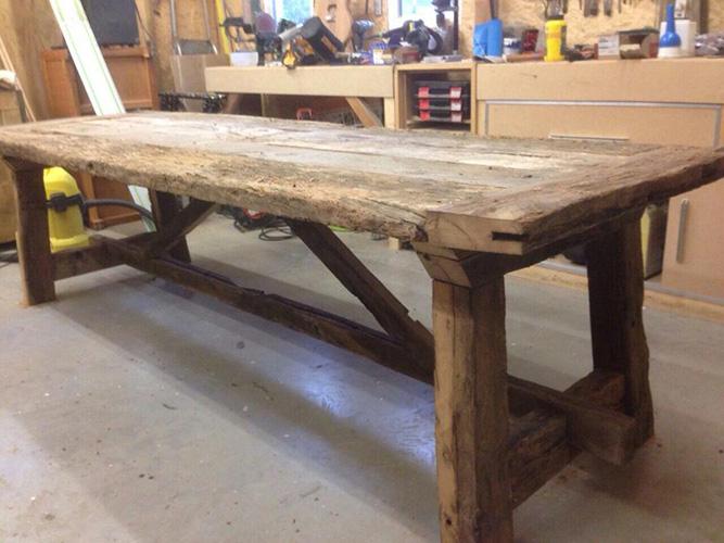 Reclaimed rustic French Oak Farm Tables
